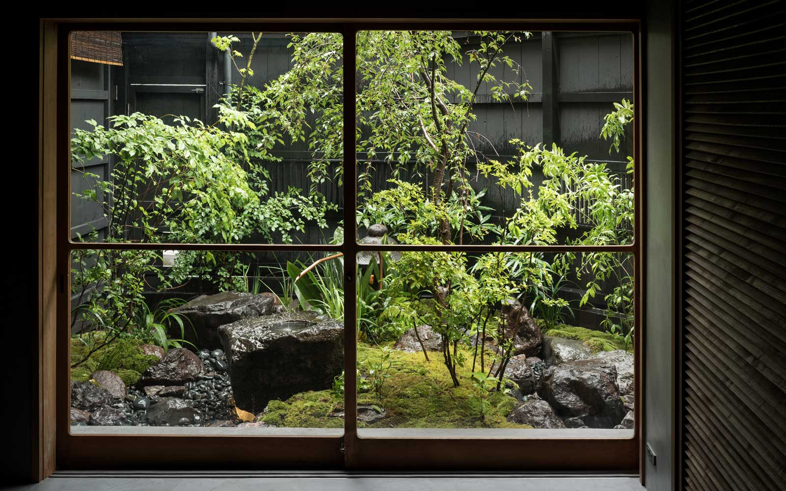 Window view from Trunk House in Tokyo, Japan