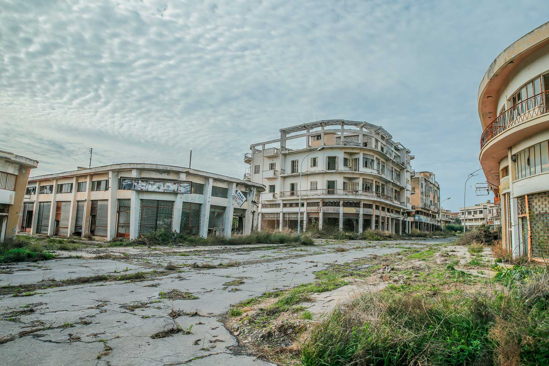 A view of abandoned buildings in Closed Maras (or Varosha in Greek) on February 15, 2020.