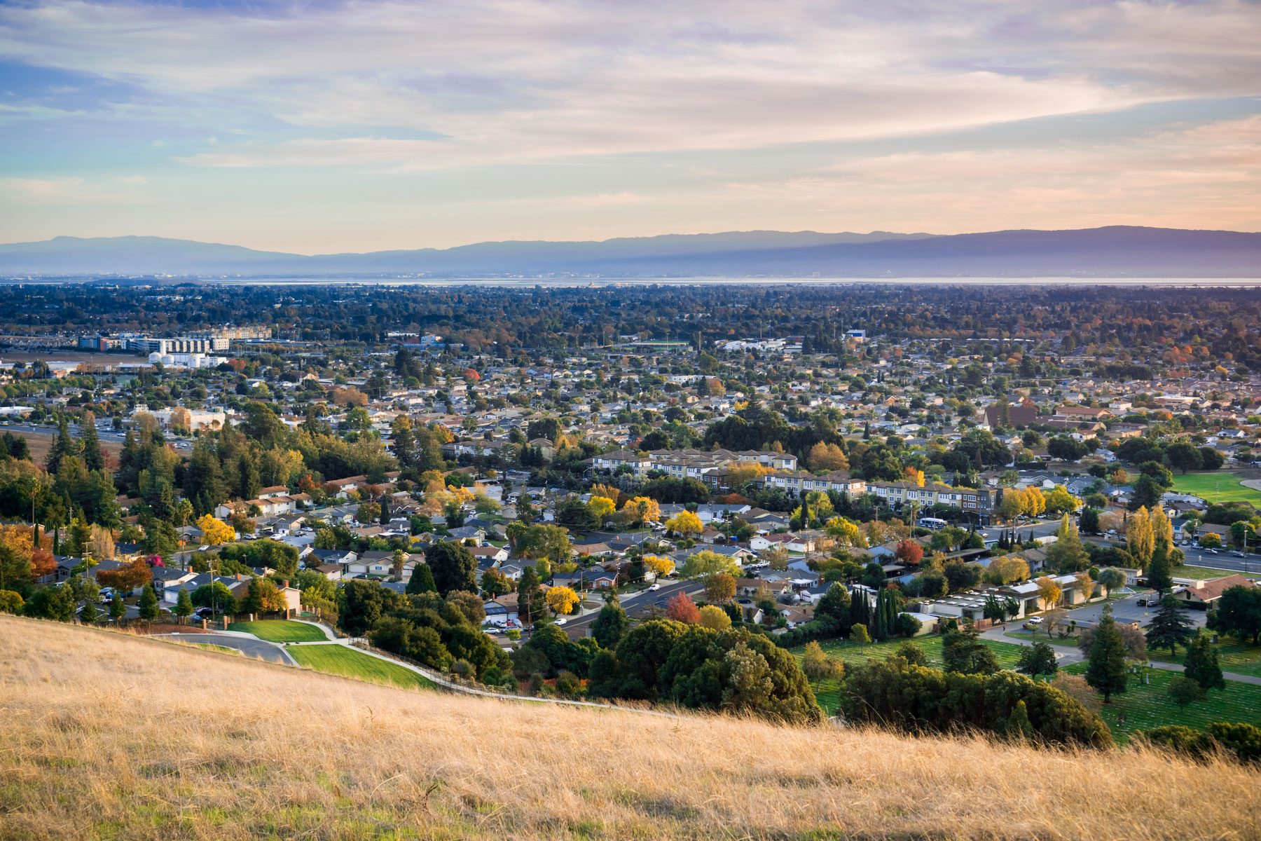 View towards Fremont and Union City from Garin Dry Creek Pioneer Regional Park
