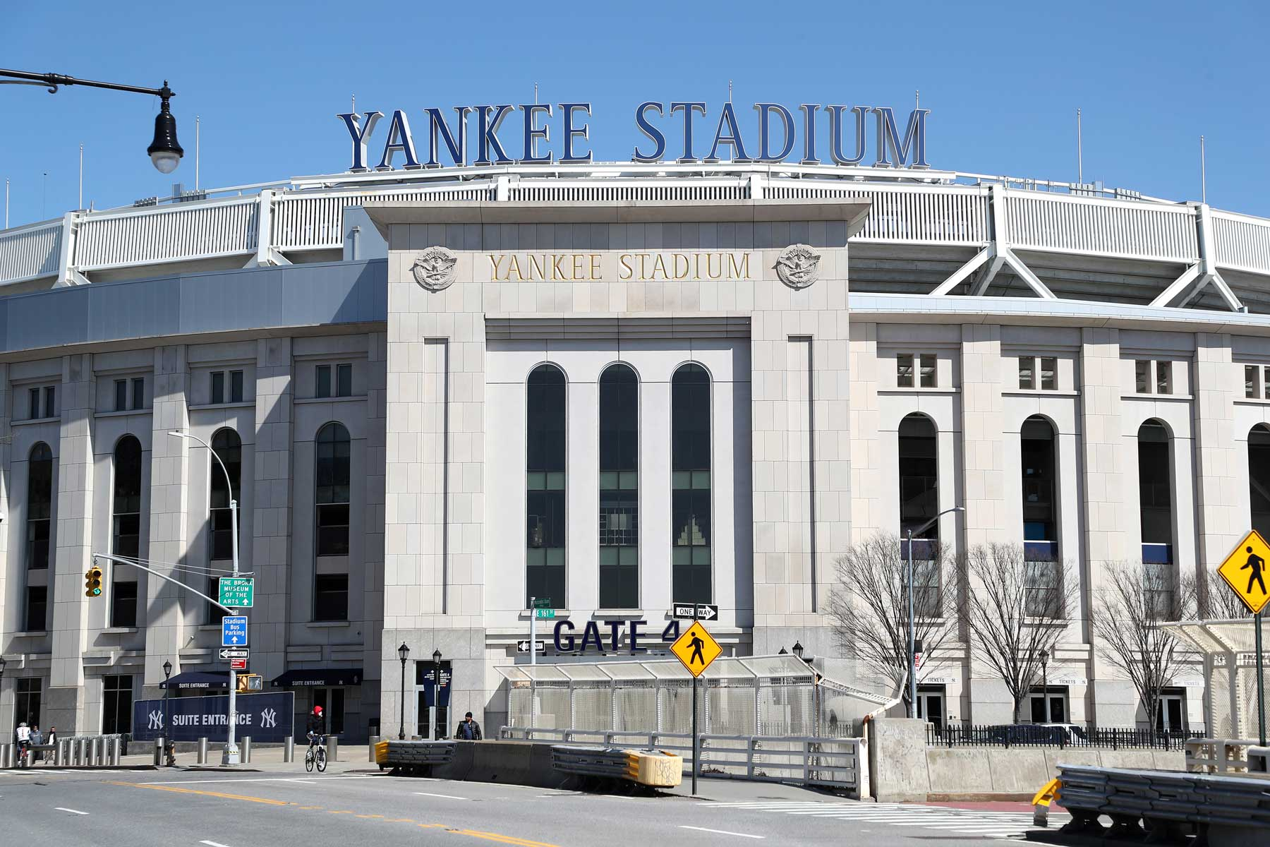 Exterior of Yankee Stadium in the Bronx, New York City