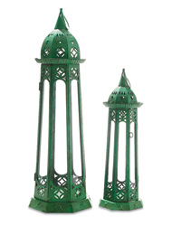 Verdigris Iron Lanterns