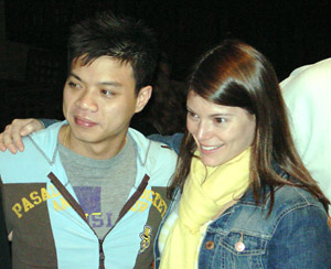Hung Huynh and Gail Simmons