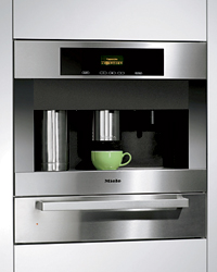 Built-in European coffee system by Miele