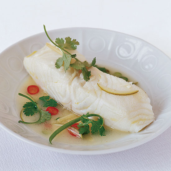 Spicy Butter-Steamed Bass