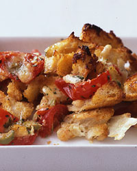 Cheesy Tomato-Bread Strata