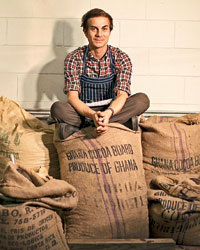 Scott Witherow founder of bean-to-bar chocolatier Olive & Sinclair in Nashville, TN.