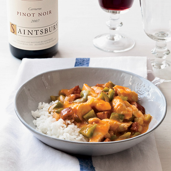 Chicken-and-Andouille Étouffée