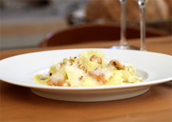 Pappardelle with Sea Urchin and Caulifower