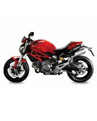 Top Chef Ludo Lefebvre on his motorcycle, a Ducati Monster S4R