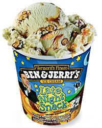 Ben & Jerry's Late Night Snack ice cream.