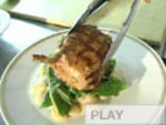 Marinated Pork Chops with White Beans and Dandelion-Fennel Salad