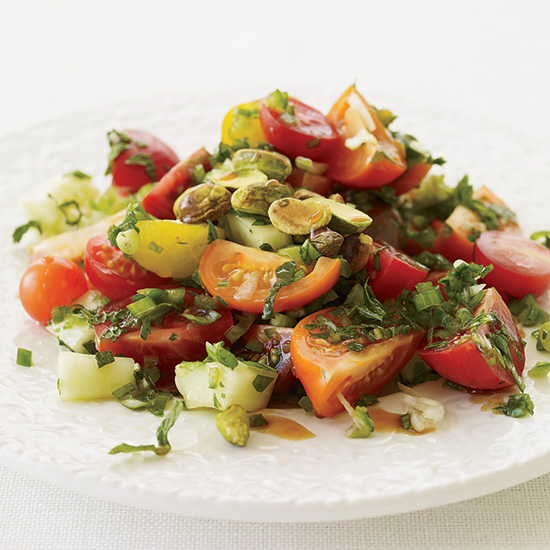 Turkish Tomato Salad with Fresh Herbs.