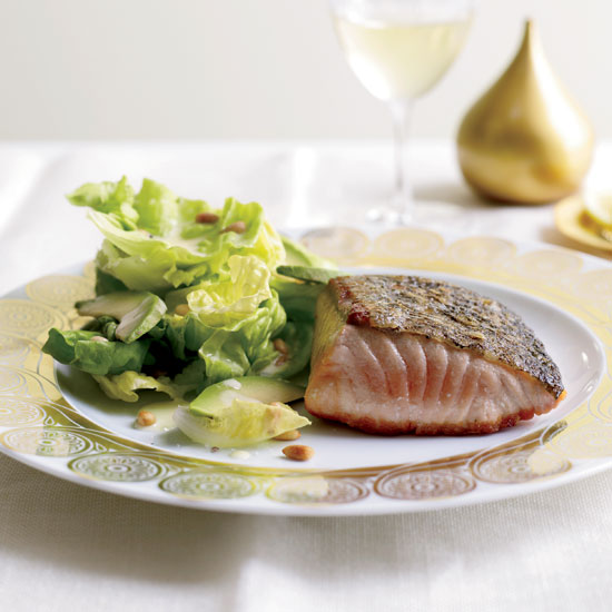 Crisp Salmon with Avocado Salad