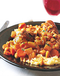 Couscous with Chicken and Chickpeas