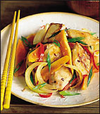 Chicken and Papaya Stir-Fry