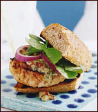 Turkey Burgers with Pesto Mayonnaise