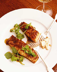 Pan-Roasted Salmon with Soy-Ginger Glaze