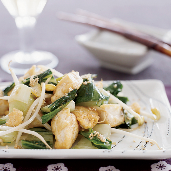 Stir-Fried Tofu with Bok Choy