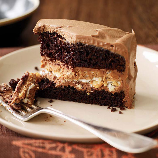 Crunchy Milk Chocolate—Peanut Butter Layer Cake