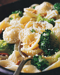 Orecchiette with Broccoli, Roasted Garlic, and Pine Nuts