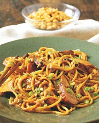 Spaghetti with Peanut Sauce