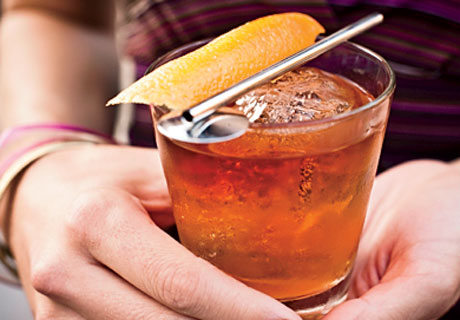 An old-fashioned is Don Draper's drink of choice on AMC's Mad Men.