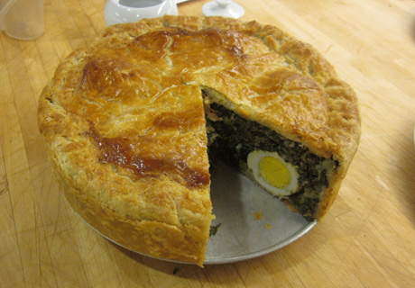 Spinach-and-Grape-Leaf Pie