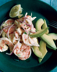 Shrimp-and-Avocado Salad with Mango Dressing