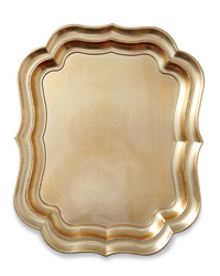 Gold Scalloped Tray