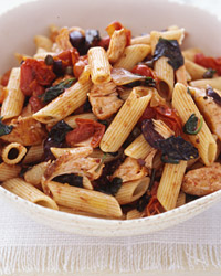 Penne with Salmon Puttanesca