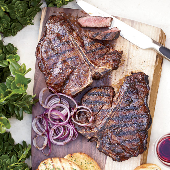 Spice-Rubbed T-Bone Steaks