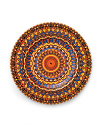 Superstition plate by Damien Hirst