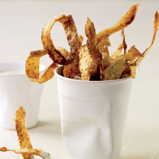 6. Potato Crisps with Chive-Sour Cream Dip