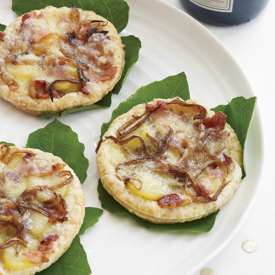 Reblochon Tarts with Bacon and Fingerling Potatoes