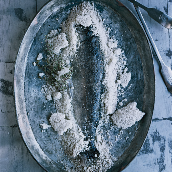 Salt-Baked Trout