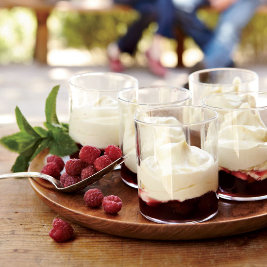 Vanilla Zabaglione with Raspberries