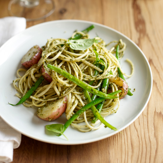 Trenette with Pesto, Beans and Potatoes