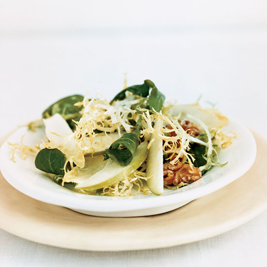 Greens with Chèvre Dressing