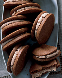 Milk-Chocolate Cookies with Malted Cream