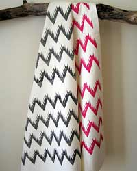 Ikat Chevron Tea Towels by Hammocks and High Tea