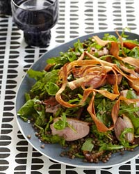 Duck Breast, Lentil and Parsnip Salad