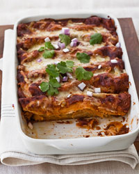 Red Chile–Chicken Enchiladas