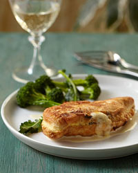 Cheese-Stuffed Chicken Cutlets with Mustard Sauce
