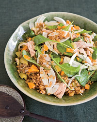 Warm Wheat Berries with Tuna, Fennel and Olives