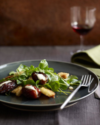 Roasted Mascarpone-Filled Dates with Watercress & Brioche