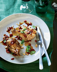 Grilled Quail with Goji Berries and Pine Nuts