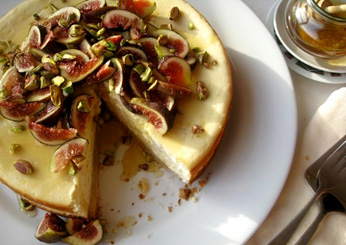 Goat Cheesecake with Figs and Honey