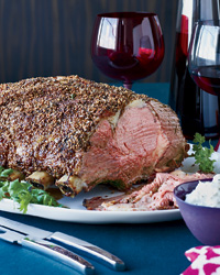 Spiced Coriander and Mustard-Crusted Rib Roast of Beef