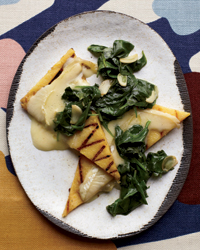Grilled Polenta with Spinach and Robiola Cheese