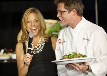 Sissy Biggers with Classic Quickfire champion Rick Bayless